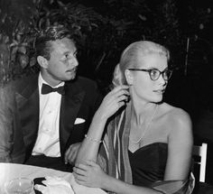 Grace Kelley & fashion designer Oleg Cassini. The two dated and were briefly engaged after Cassini's divorce from actress Gene Tierney.