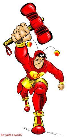 chapulin colorado meets larsen by maestro-efectivo on DeviantArt Cartoon Faces, Shopkins, Tigger, Comic Art, Iron Man, Disney Characters, Fictional Characters, Meet, Fan Art