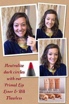 You probably know the latest RAGE in eliminating dark circles under your eyes. Try it with natural based products from YOUNIQUE! Primal lip pencil, Glorious Primer and BB Flawless is all you need!