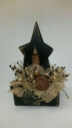 Primitive Wooden Star Arrangement by CountrySilk on Etsy