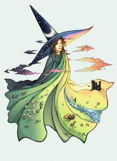 Tiffany Aching, young witch from some of Terry Pratchett's Discworld novels Wiccan, Pentacle, Tiffany Aching, Art Magique, Terry Pratchett Discworld, Tarot, Witch Art, Gif Animé, Art Plastique