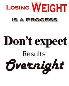 Progress happens over time not overnight!