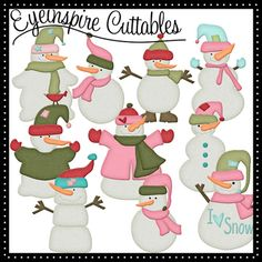 adorable snowmen digital cutting files for your cricut or pazzles cutting machine wpc eps dxf and svg cuts