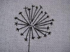cross stitch dandelion