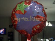 Day 25. Baby Shower/Blessing. I never got to have a shower, i got this balloon from my MIL and SIL when they were here for a visit. I also got some beautiful maternity clothes for Christmas that year. Sadly 12 days later i lost my first baby at 11 weeks. Only made it to 5 weeks with my second.