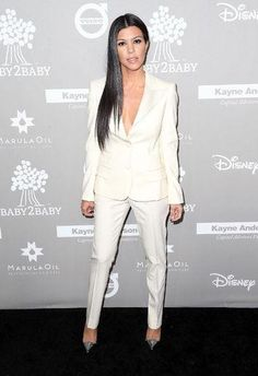 Kourtney Kardashian killed it this weekend in a white suit. Click to see more of our favorite red carpet moments from the past few days!