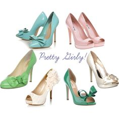 Pick your Pick your pair #shoes - I really love the Mint pumps with the bow for my wedding! #shoes