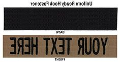 Personalized Military Name Tapes: Sew On, Hook Fastener (Uniform Ready Fastener), Tactical or with a UNIQUE LOGO, Coyote Brown, 5