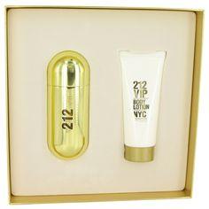 Carolina Herrera 212 Vip  Gift Set -- 2.7 oz Eau De Parfum Spray   3.4 oz Body Lotion