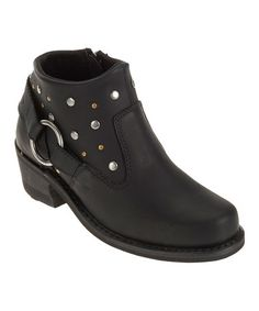 Look what I found on #zulily! Black Heyward Leather Ankle Boot - Women #zulilyfinds