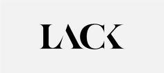 LACK, typographic logo