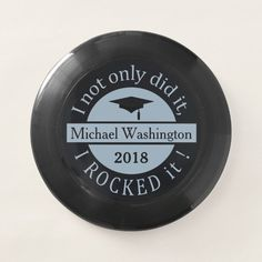 Graduation custom name & year frisbee - tap/click to get yours right now! #graduation, #graduate, #high #school, #college,