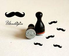 Mustache, Schnurrbart Holzstempel von Utenliesjen auf DaWanda.com