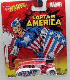 2015 Hot Wheels Pop Culture Marvel '38 Dodge Air Flow Captain Anerica #HotWheels #Dodge