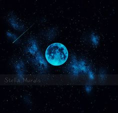 Glow in the Dark Self-Adhesive Star Mural  Nebula by StellaMurals