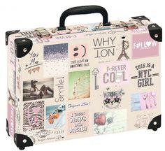 Školní kufřík velký - 35x25x11cm č. 21793 HK Velký FOREVER COOL JEANS Nyc Girl, Krabi, Jeans, Box, Face, Snare Drum, The Face, Faces, Denim