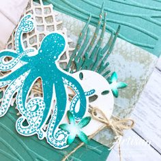 Crafty Little Peach: Stampin' Sneak Peek Sea Of Textures Octopus Card, Sea Texture, Nautical Cards, Beach Cards, Stampin Up Catalog, Surf, Ocean Themes, Masculine Cards, Paper Cards
