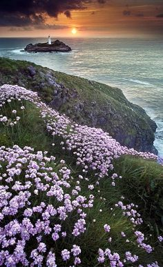 Godrevy Head and lighthouse ~ St Ives Bay, Cornwall, England