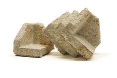 Mushroom material for packaging (Agricultural waste + Fungal Mycelium).