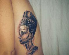 Nefertiti tattoo on ribs S Tattoo, Love Tattoos, Nefertiti Tattoo, Best Tattoo Designs, Black Is Beautiful, Henna, Tatting, Body Art, Piercings