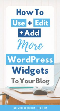 Learn how to use WordPress widgets when you start a blog + website with this WordPress for beginners tutorial guide. Learn everything you need to know about WordPress widgets from how to use, edit and add them to your WordPress blog theme + design. Plus the benefits of using them when starting a blog. Click here to find out how they can benefit your new blog #WordPressTips #HowToBlog #Blogging #BlogTips #WordPressWidgets #BloggingForBeginners | wordpress 101 | blogging tips and tricks |