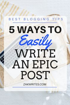 Write an epic blog post that attracts readers, subscribers and social shares with these 5 genius techniques that can be implemented right away. 5 Ways, Writing, How To Plan, Entrepreneurship, Blogging, Content, Group, Board, Tips