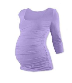 JOHANKA - těhotenské tričko bez rukávů ve světle modré.  bf621a0930