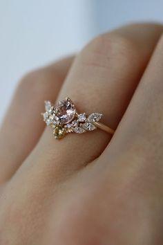 Engagement Ring Rose Gold, Best Engagement Rings, Diamond Wedding Bands, Morganite Engagement, Morganite Ring, Intricate Engagement Ring, Expensive Engagement Rings, Engagement Jewellery, Vintage Style Engagement Rings