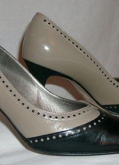 Schuhe, Gr. 38, taupe/schwatz, neuwertig