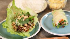 METHOD Heat the oil in a large frying pan Fry the ginge … Pork Lettuce Wraps, Lettuce Cups, Kiwi Recipes, Pork Mince, Wooden Spoon, Fish Sauce, Golden Brown, Lime Juice, Brown Sugar