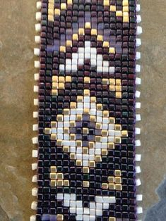 Plum Geometrics Bracelet – The World Loom Bracelet Patterns, Seed Bead Patterns, Bead Loom Bracelets, Beaded Jewelry Patterns, Peyote Patterns, Weaving Patterns, Knitting Patterns, Loom Bands, Bead Loom Designs