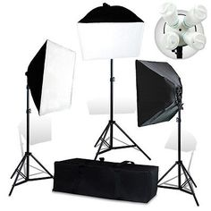 Photo-Studio-Video-Continuous-Lighting-Kit-Photography-3-Softbox-Stand-12-bulbs