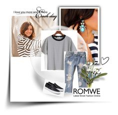 """""""Romwe"""" by minasalkicm ❤ liked on Polyvore featuring Abercrombie & Fitch and Vans"""