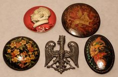 Group of Five Brooches : Lot 88  www.loveatfirstbid.com email. admin@loveatfirstbid.com  646 580 7443