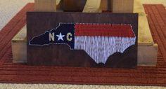 North Carolina String Art State Flag by PreppyPigDesigns on Etsy