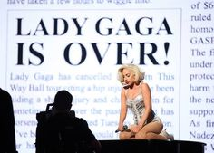 'Lady Gaga is over.'  No, she's not!