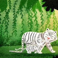 protected tiger illustration by nidhi c, via Flickr