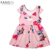 6cb2e33b6 Baby Girls Summer Dress Brand Sleeveless Floral Print Party Backless Bow  Dresses For Girl Vintage Kids