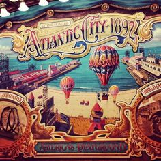 #Disneyland Paris. Atlantic City 1892 by the seaside, America's Playground Poster in the Discovery Arcade in Main Street #DLP #DLRP #Disney