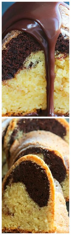 Moist and Tender Marble Cake ~ Super-moist with a tender crumb that slices like velvet. The vanilla and chocolate marry beautifully in texture, yet pleasantly contrast in color and flavor. A luscious milk chocolate ganache glaze, takes it over the top! Marble Cake Recipes, Marble Cake Recipe Moist, Chocolate Ganache Glaze, Create A Cake, Classic Cake, Glaze Recipe, Oven Racks, Cake Batter, So Little Time