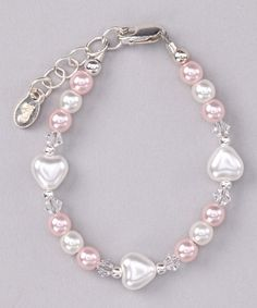Take a look at this Pearl Miley Bracelet - Infant, Toddler & Girls by Tiny Treasures on #zulily today!