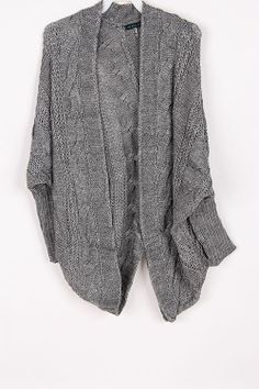 grey sweater - perfect for layering on top of those Spring and Summer dresses.