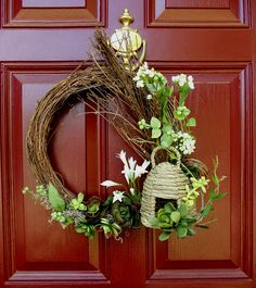 Wreath for Spring?  upstairs downstairs: April 2012
