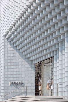 Sinnfindung im Erbe von Mies van der Rohe Facade Design, Exterior Design, Retail Facade, Concrete Facade, Amazing Buildings, Facade Architecture, Modern Exterior, Brutalist, Architect Design