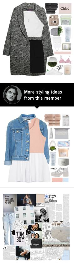 """""""Hacked by @samiikins"""" by end-of-the-day on Polyvore featuring Violeta by Mango, rag & bone, adidas, Swarovski, Crate and Barrel, Christy, Davines, Lux-Art Silks, Estée Lauder and Topshop"""