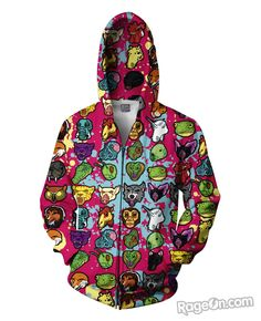 Hotline Miami Zip-Up Hoodie