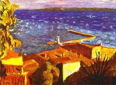 Saint Tropez, Pier, 1912 by Pierre Bonnard Pierre Bonnard, Indian Paintings, Seascape Paintings, Oil Painting Abstract, Watercolor Artists, Oil Paintings, Painting Art, Watercolor Painting, Landscape Paintings