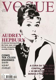 audrey hepburn vogue covers