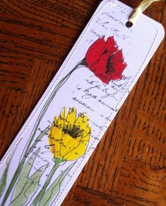 Bookmark of Watercolor Poppies by Wildflowerhouse on Etsy