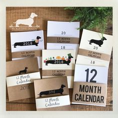 What's NEW in the shop? 2018 calendars! www.pickledogdesign.etsy.com